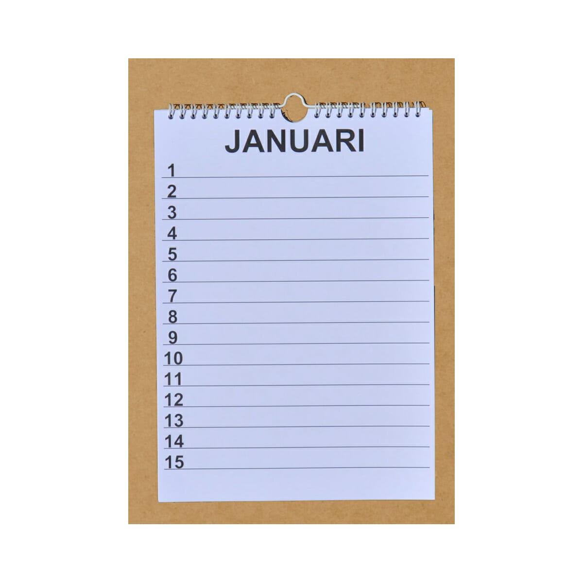 Verjaardag Kalender.Grootletter Verjaardagskalender A4