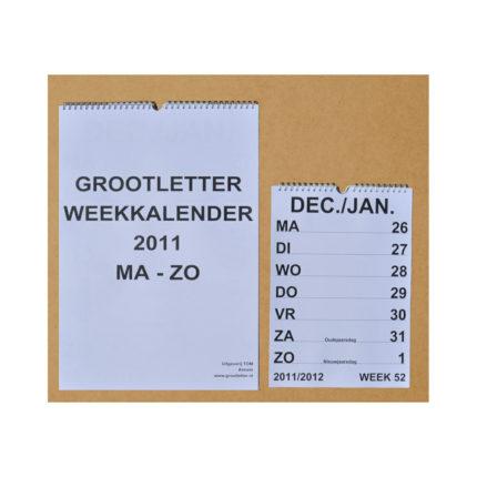 Grootletter weekkalender A3 ST420019