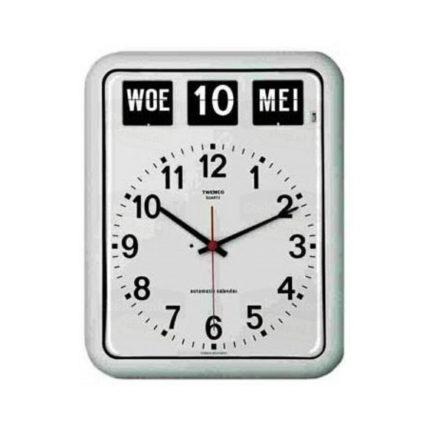 Kalenderklok Twemco BQ-12 wit ST644103