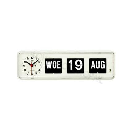 Kalenderklok Twemco BQ-38 wit ST644108