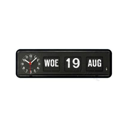 Kalenderklok Twemco BQ-38 zwart ST644109