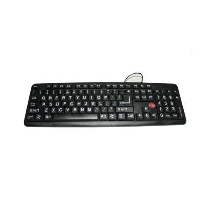 Grootletter toetsenbord zwarte achtergrond ST683177-0