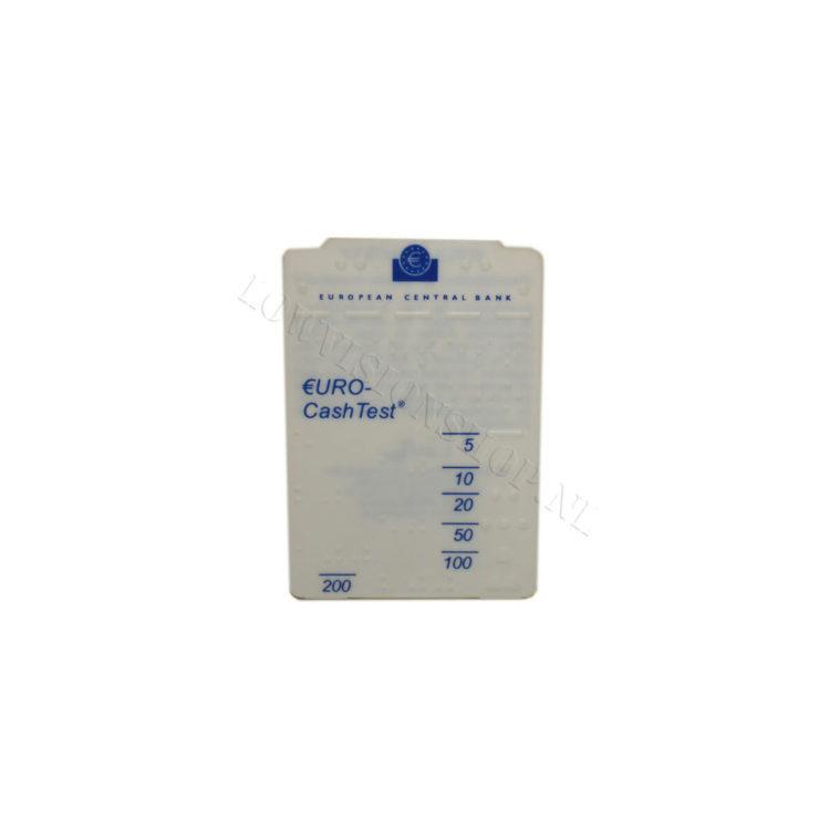 Cashtest met braille ST630003