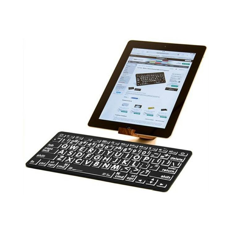 Apple bluetooth grootletter toetsenbord zwarte achtergrond ST683165
