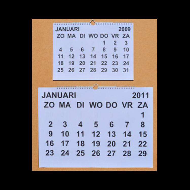 Grootletter maandkalender A3 ST420027