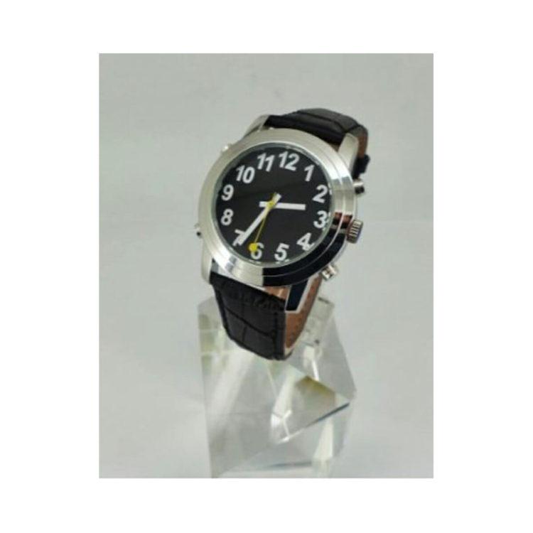 Slechtzienden horloge zwarte wijzerplaat