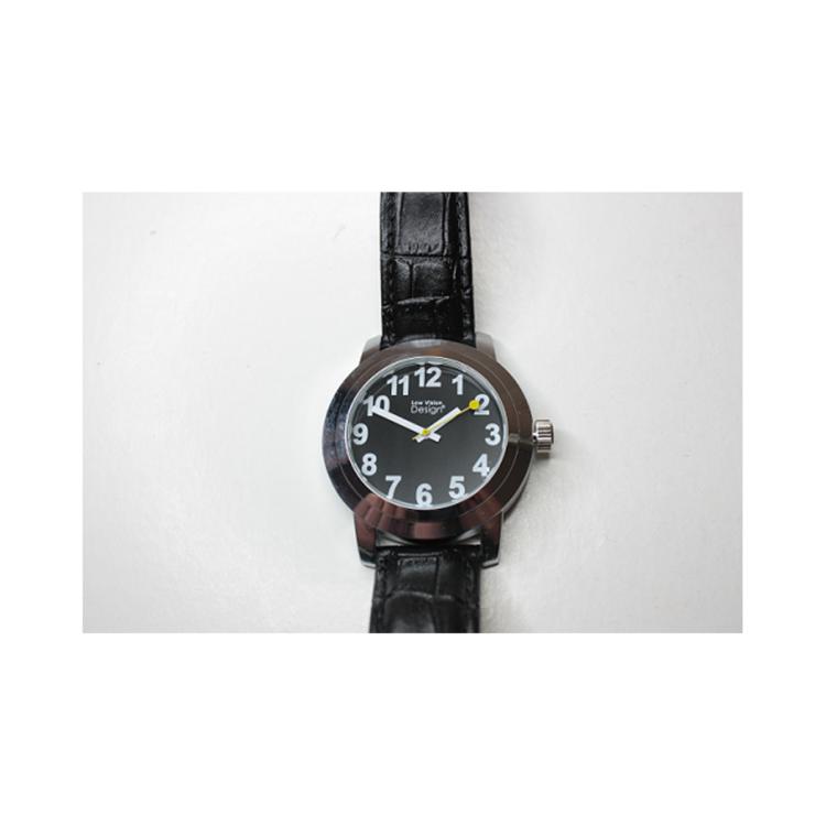 Slechtzienden horloge zwarte wijzerplaat ST643026
