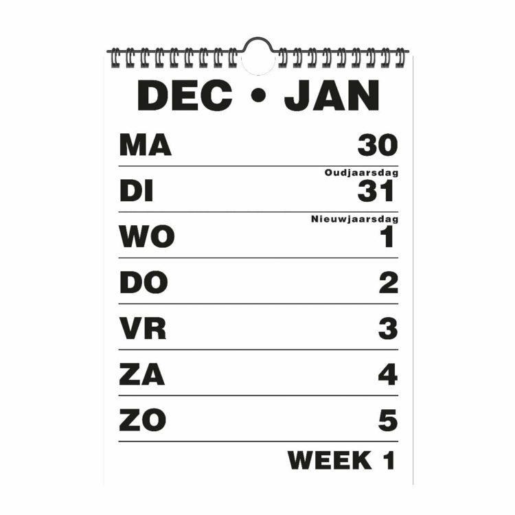 Weekkalender A5 HB