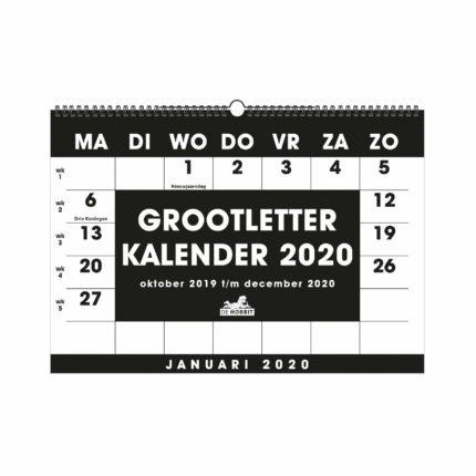 Grootletter maandkalender A3 HB
